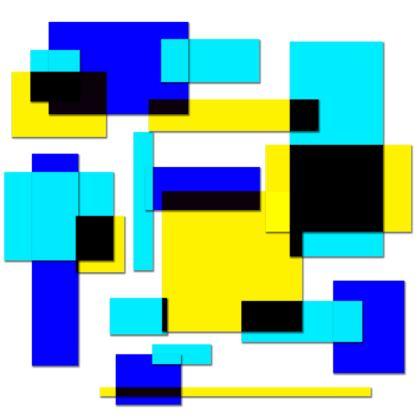 Men's Swimming Shorts - Bright Squares