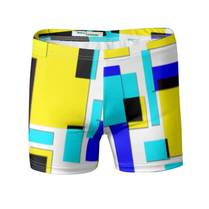Swimming Trunks - Bright Squares