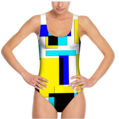 Swimsuit - Bright Squares