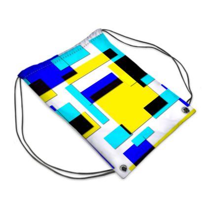 Swim Bag - Bright Squares