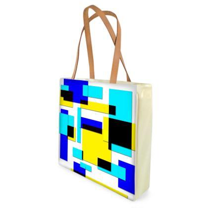 Beach Bag - Bright Squares