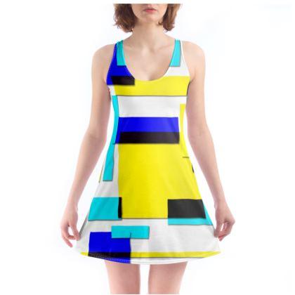 Beach Dress - Bright Squares