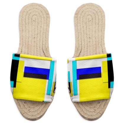Sandal Espadrilles - Bright Squares