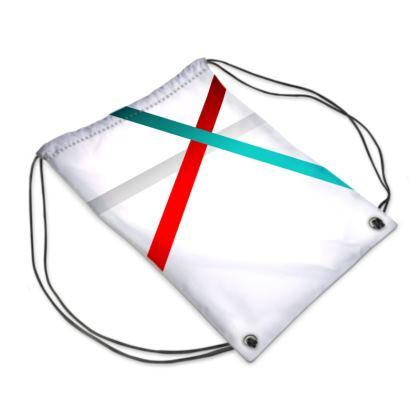 Swim Bag - Regal Stripes (White)