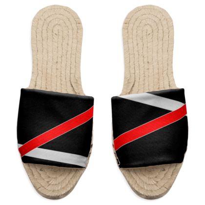 Sandal Espadrilles - Regal Stripes (Black)
