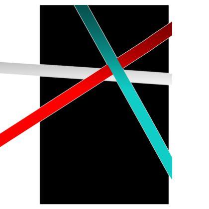 Men's Swimming Shorts - Regal Stripes (Black)