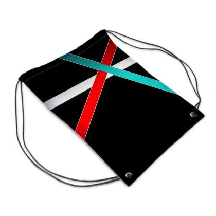 Swim Bag - Regal Stripes (Black)