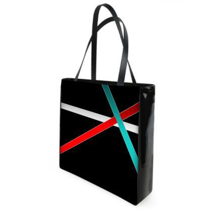 Beach Bag - Regal Stripes (Black)