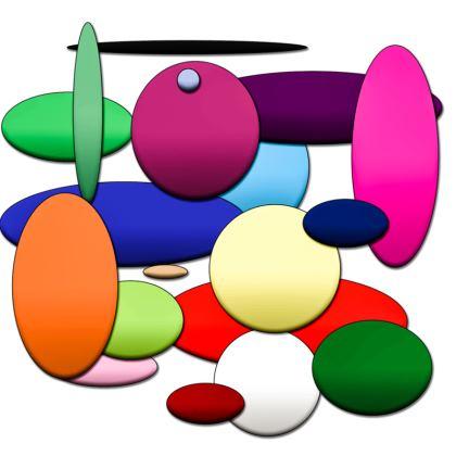 Men's Swimming Shorts - Random Circles