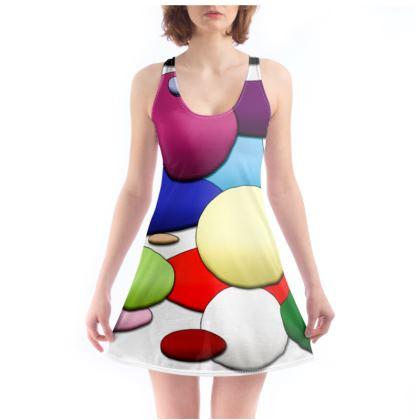 Beach Dress - Random Circles