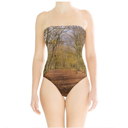 Strapless Swimsuit - Open Clearing in Clapham Woods
