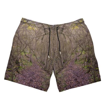 Men's Swimming Shorts - Trail in the woods