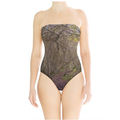 Strapless Swimsuit - Trail in the woods