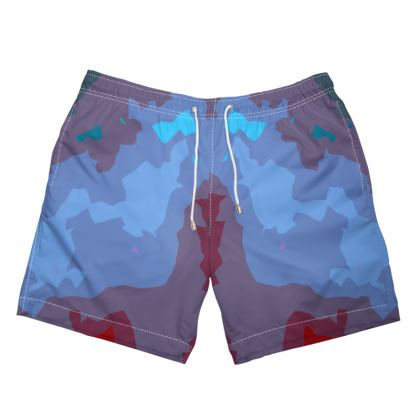 Men's Swimming Shorts - Abstract Colours