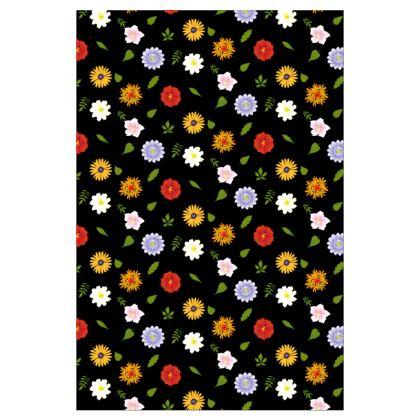 Socks - Floral in Black