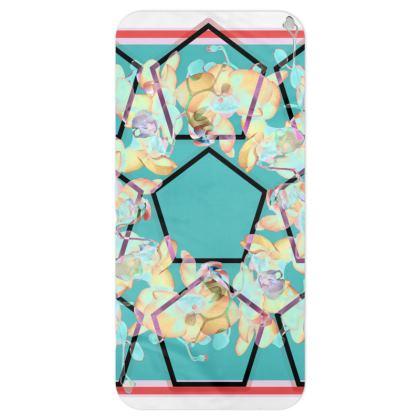 Blanket scarf Orchid geo