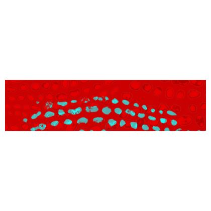 Textural Collection in red and turquoise Cup And Saucer