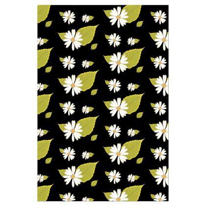 Socks - Flowers Daisy Black