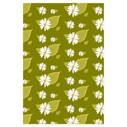 Socks - Flowers Daisy Green