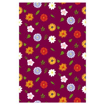 Socks - Flowers Purple