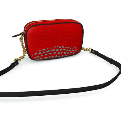 Textural Collection in red and turquoise Camera Bag
