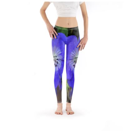 Leggings - 'Rozanne' Geranium