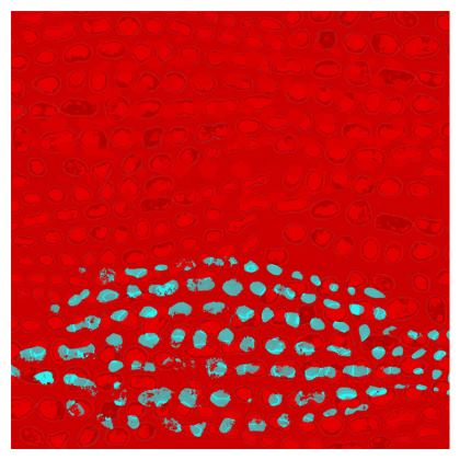 Textural Collection in red and turquoise Double Deckchair