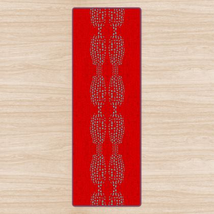 Textural Collection in red and turquoise Yoga Mat