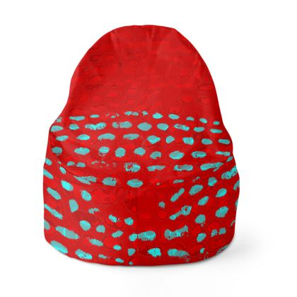 Textural Collection in red and turquoise Bean Bags
