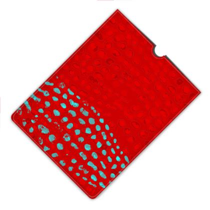 Textural Collection in red and turquoise Leather IPad Mini Case