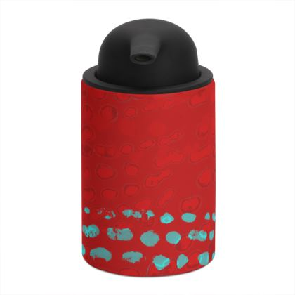 Textural Collection in red and turquoise Soap Dispenser