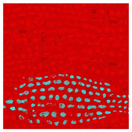 Textural Collection in red and turquoise Occasional Chair