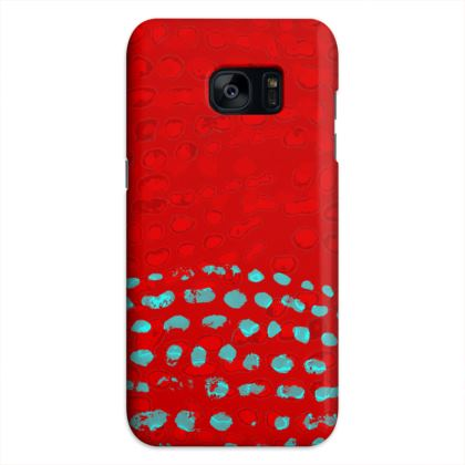 Textural Collection in red and turquoise Samsung Cases