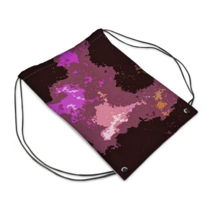 Swim Bag - Pink Ion Storm Abstract