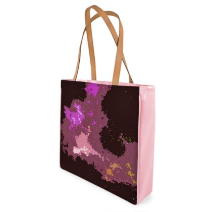 Beach Bag - Pink Ion Storm Abstract