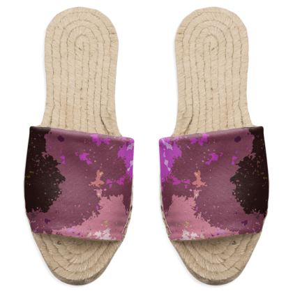 Sandal Espadrilles - Pink Ion Storm Abstract