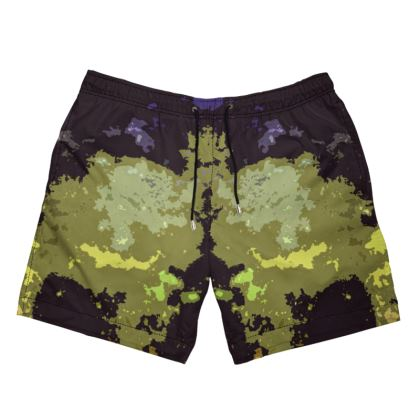 Men's Swimming Shorts - Space Explosion Abstract