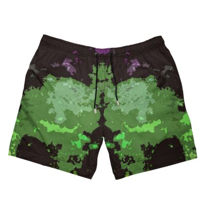 Men's Swimming Shorts - Elerium Chemical Explosion Abstract