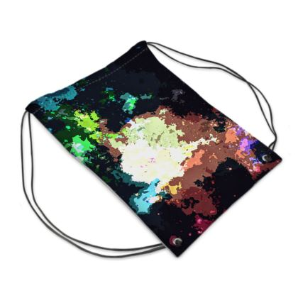 Swim Bag - Green Flame Creature Abstract