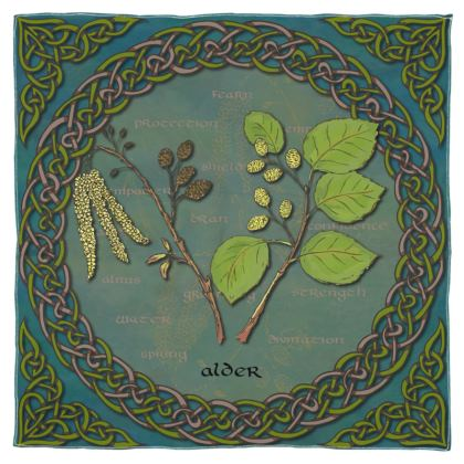 Celtic Alder Scarf, Wrap or Shawl