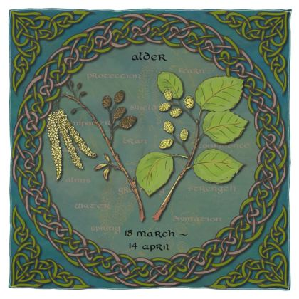 Tree Calendar Alder Scarf, Wrap or Shawl
