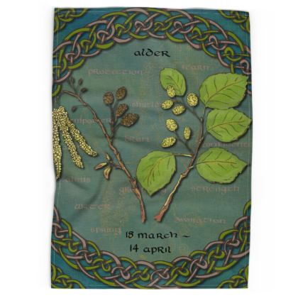 Tree Calendar Alder Tea Towel