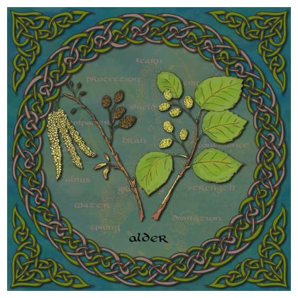 Celtic Alder Coaster Set