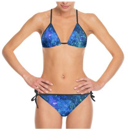 Bikini - Blue Nebula Galaxy Abstract