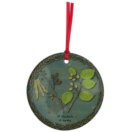 Tree Calendar Alder Hanging Ornament