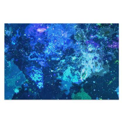Sarong - Blue Nebula Galaxy Abstract