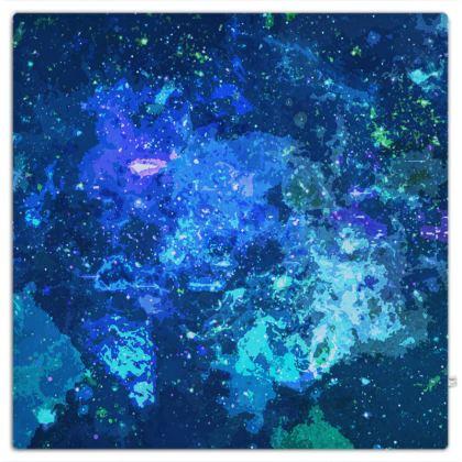 Picnic Blanket - Blue Nebula Galaxy Abstract