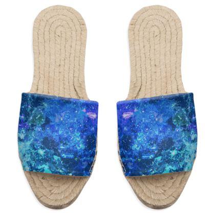 Sandal Espadrilles - Blue Nebula Galaxy Abstract