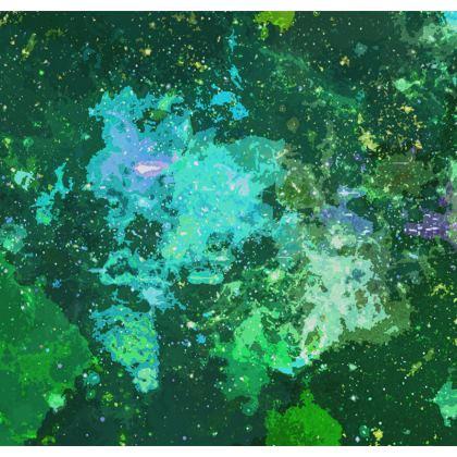 Men's Swimming Shorts - Jade Nebula Galaxy Abstract