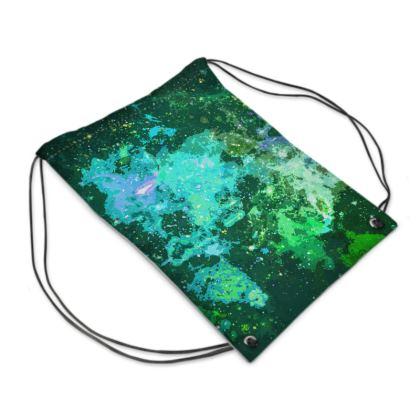 Swim Bag - Jade Nebula Galaxy Abstract